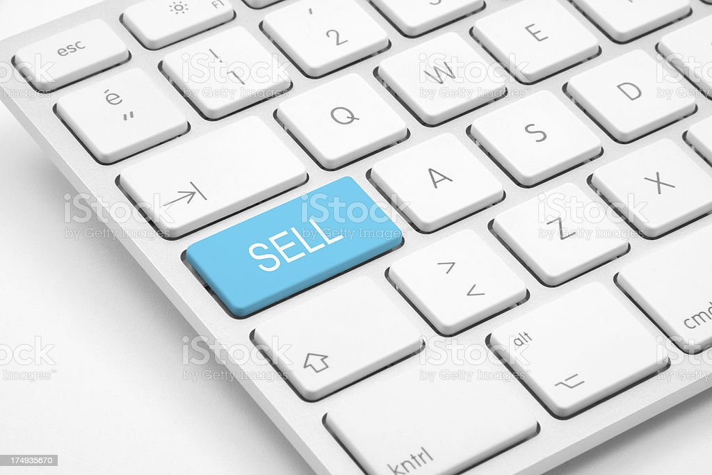 Sell button on the keyboard royalty-free stock photo
