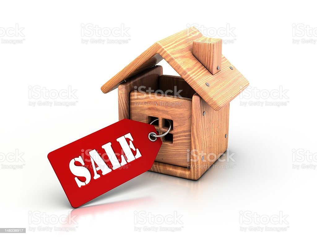 Sell house. royalty-free stock photo