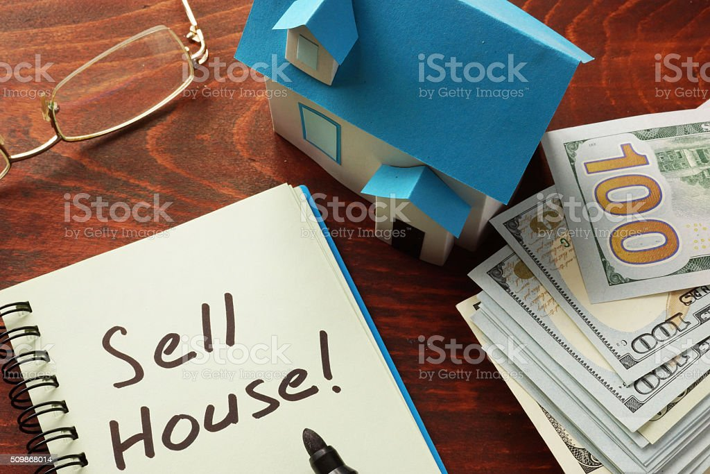 Sell house stock photo