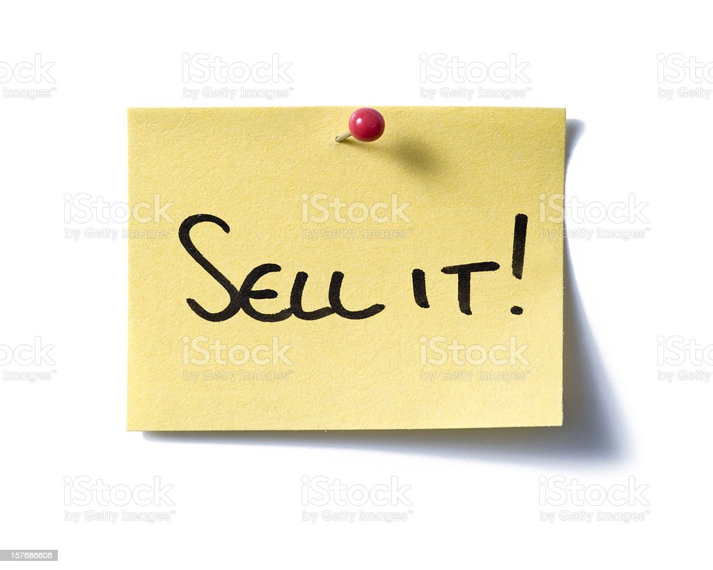 Sell it! post-it. royalty-free stock photo
