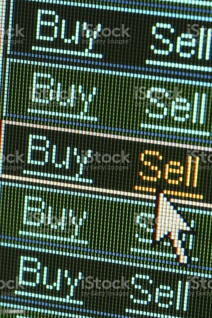 Sell order stock photo