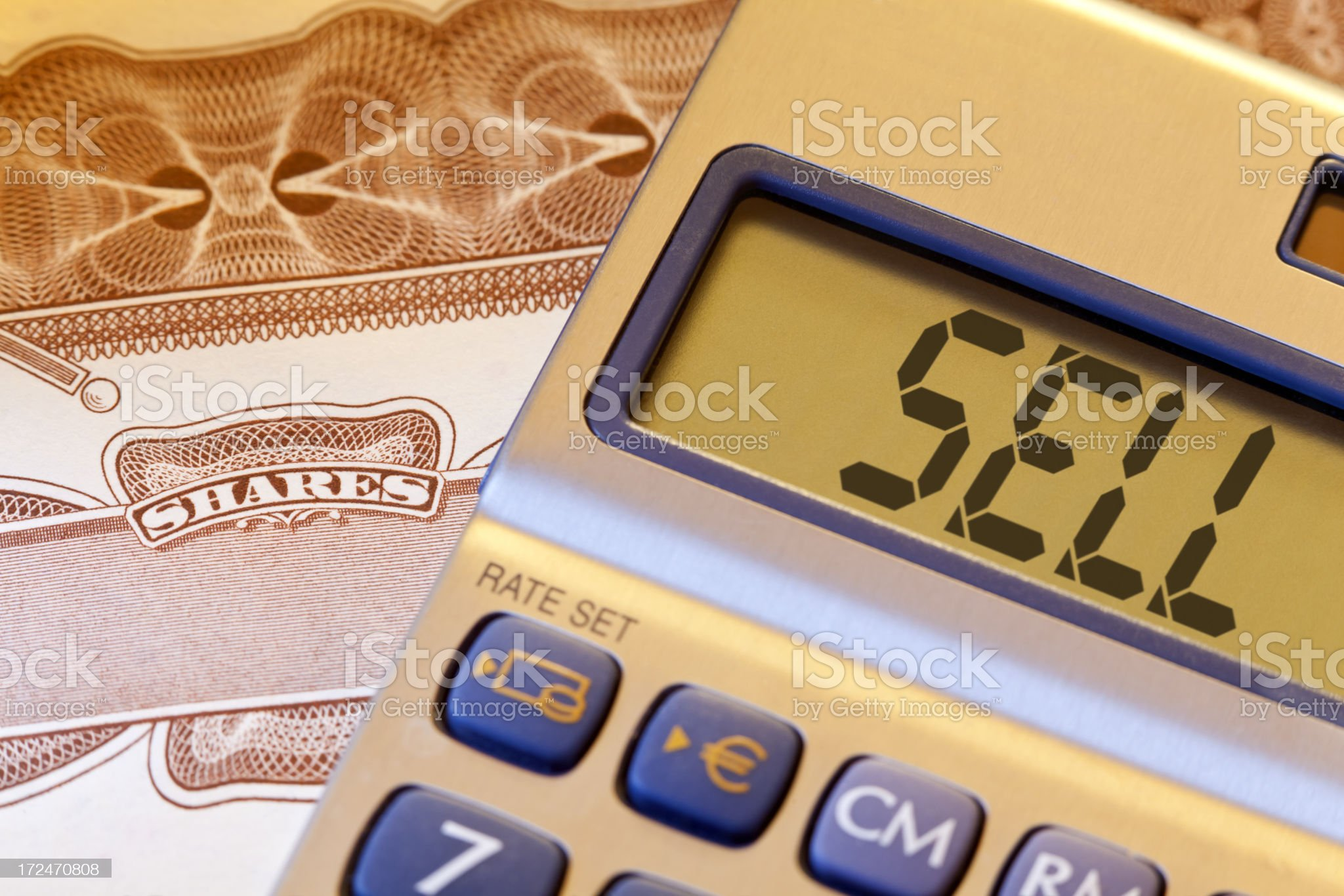 Sell Shares royalty-free stock photo