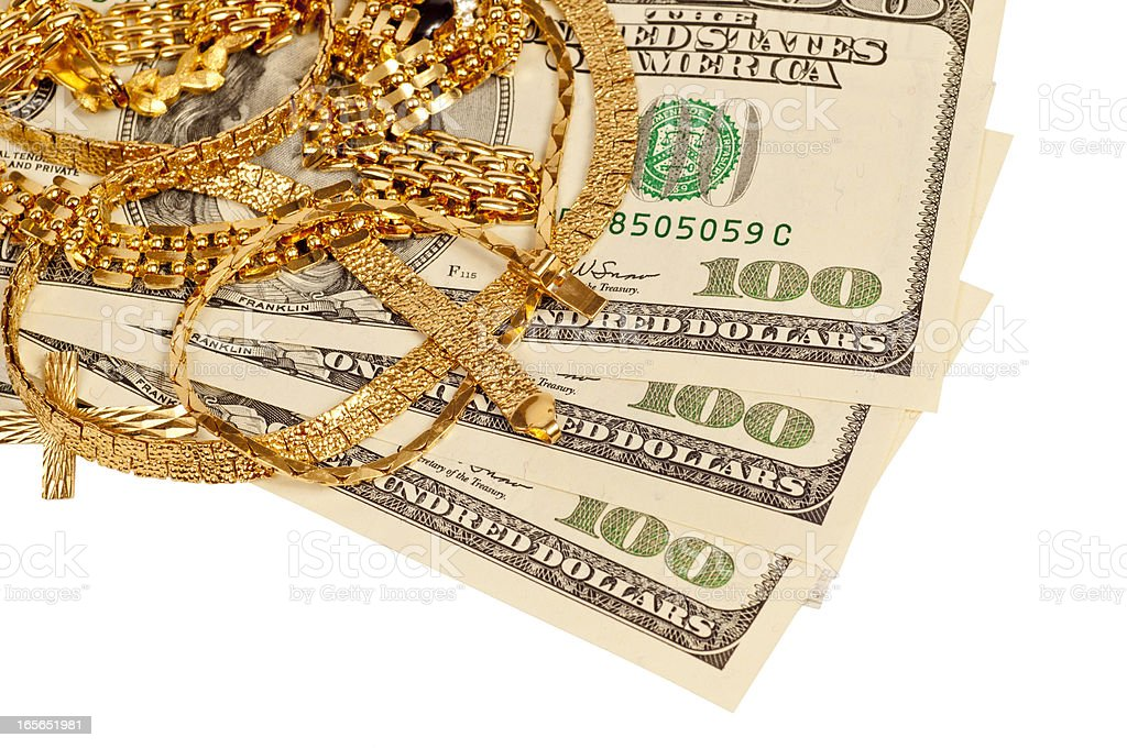 Sell Your Gold For Cash royalty-free stock photo
