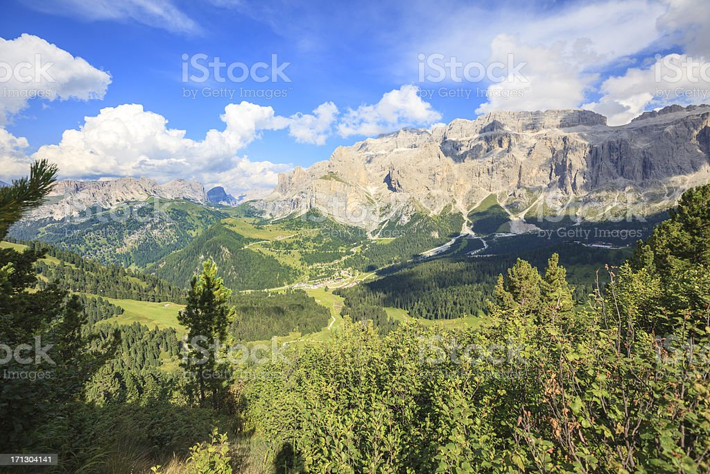Sella and Puez Groups in the Dolomites stock photo