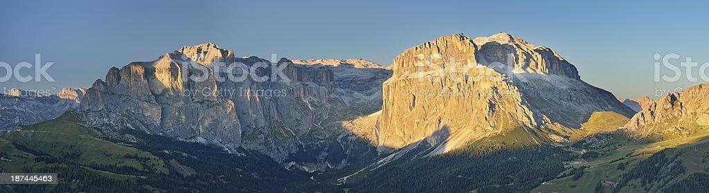 Gruppo del Sella (Dolomiti) stock photo