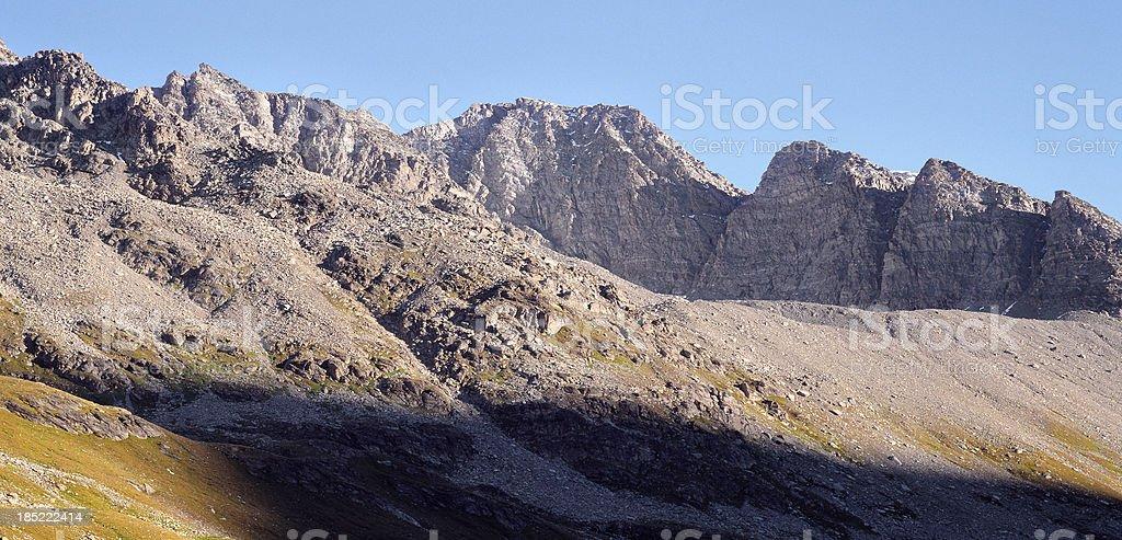 Sella Mountains in spring, Switzerland. stock photo
