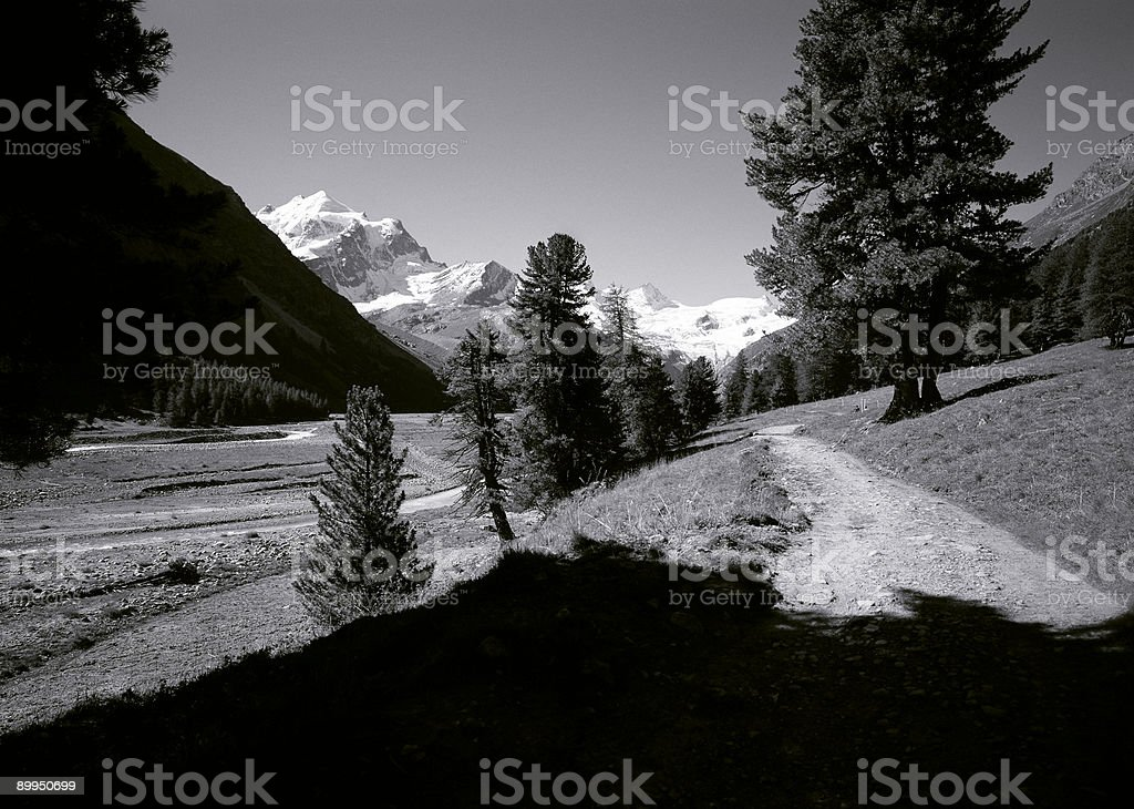 Sella Mountains, Switzerland. stock photo
