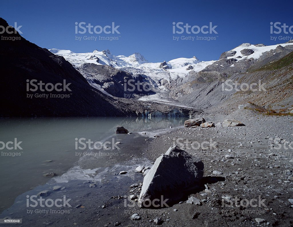 Sella Mountains, Switzerland. stock photo