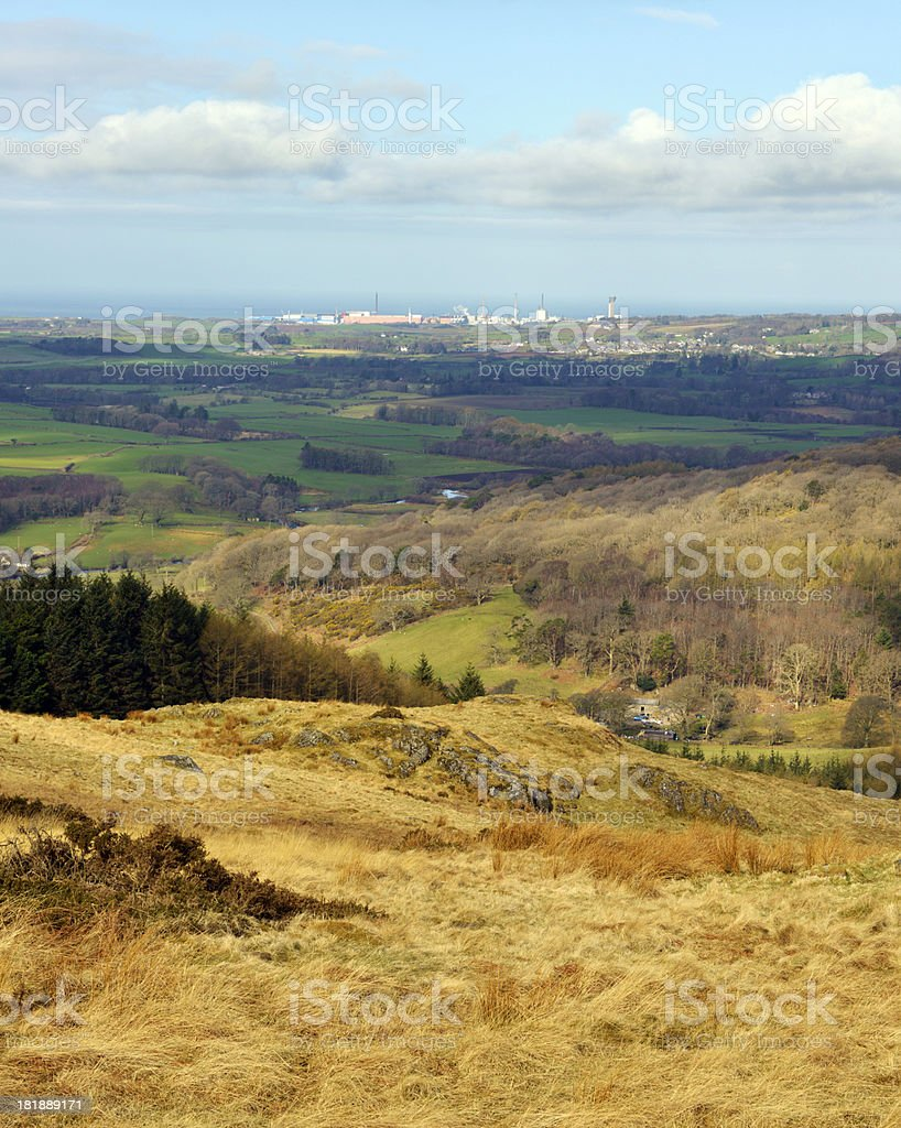 Sellafield over The Lake District stock photo