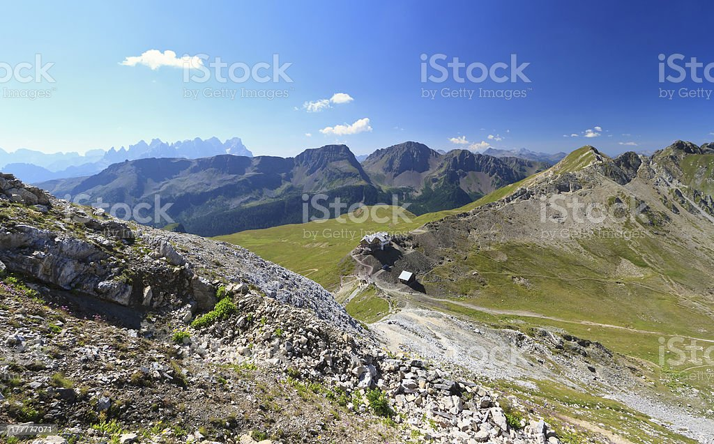 Selle pass aerial view royalty-free stock photo