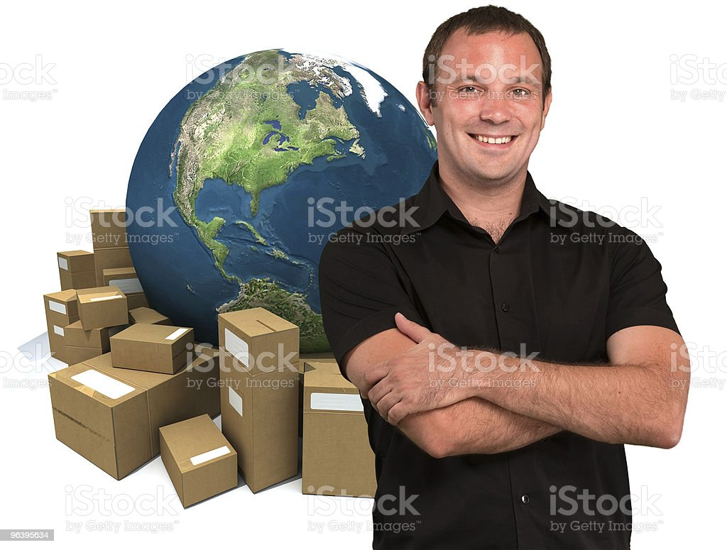 Selling around the world royalty-free stock photo