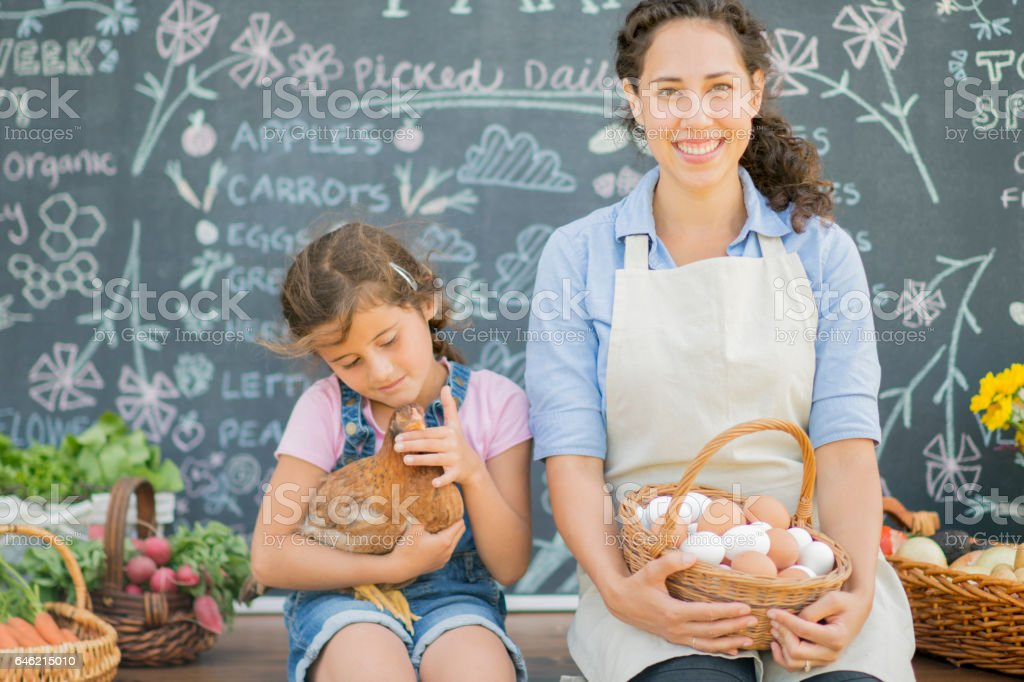 Selling Farm Fresh Products stock photo