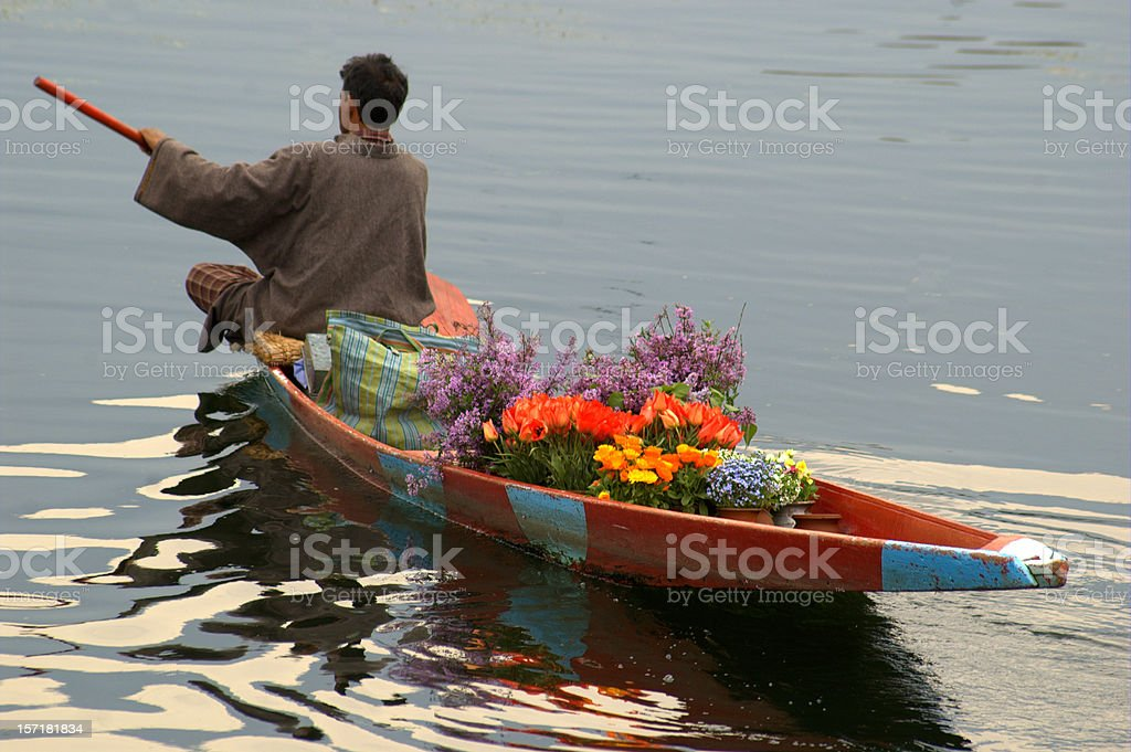 Selling Flowers stock photo