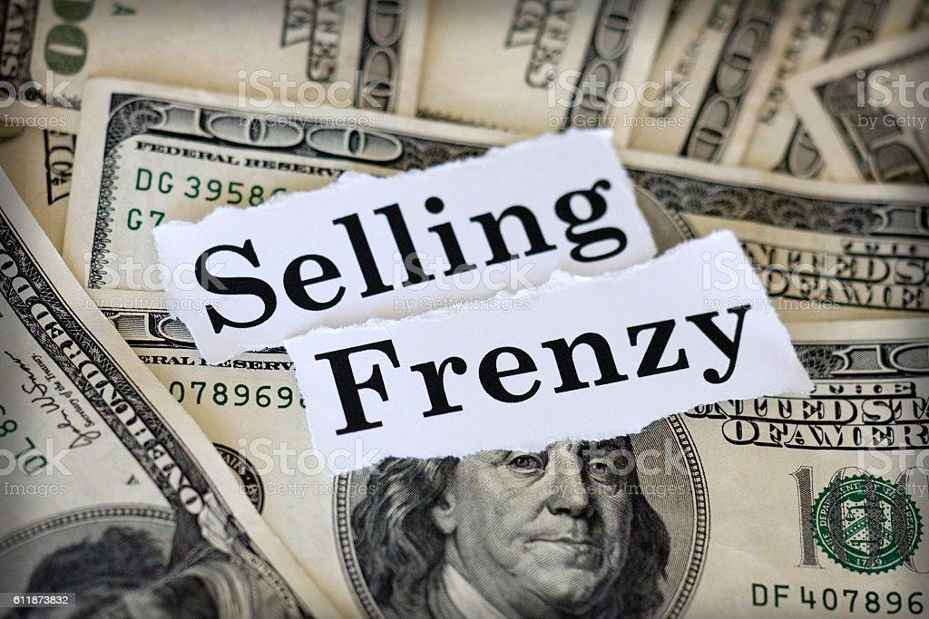 selling frenzy stock photo