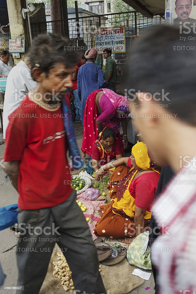 Selling in New Delhi royalty-free stock photo