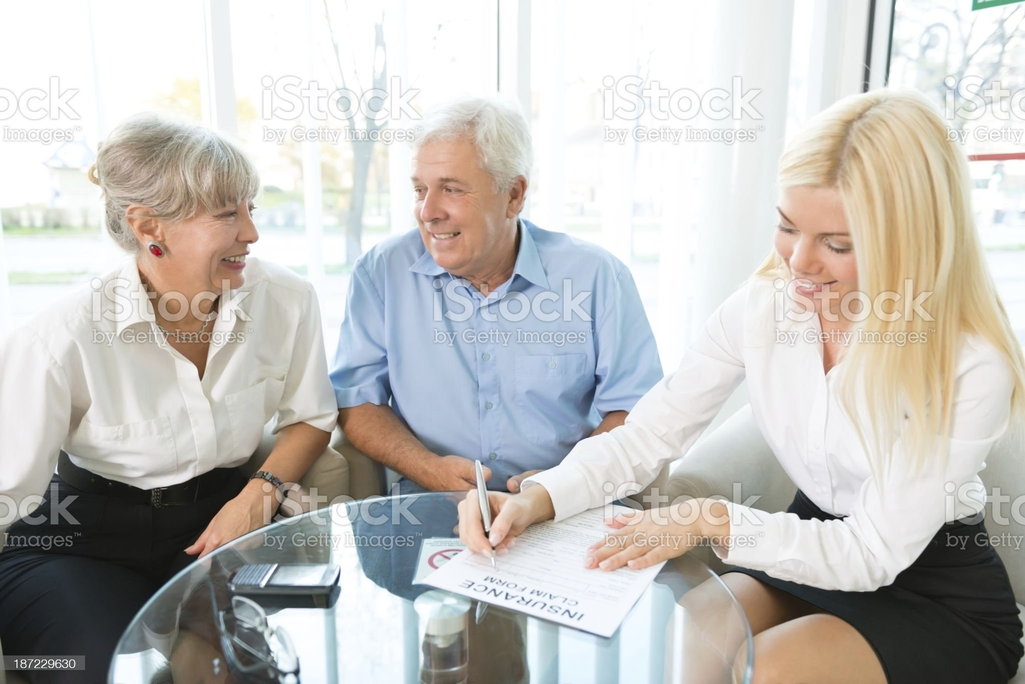 Selling insurance royalty-free stock photo