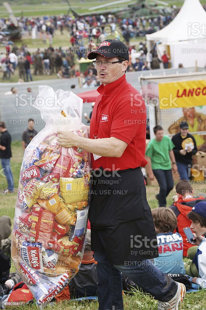 Selling Kelly's chips on Airpower 13 airshow royalty-free stock photo