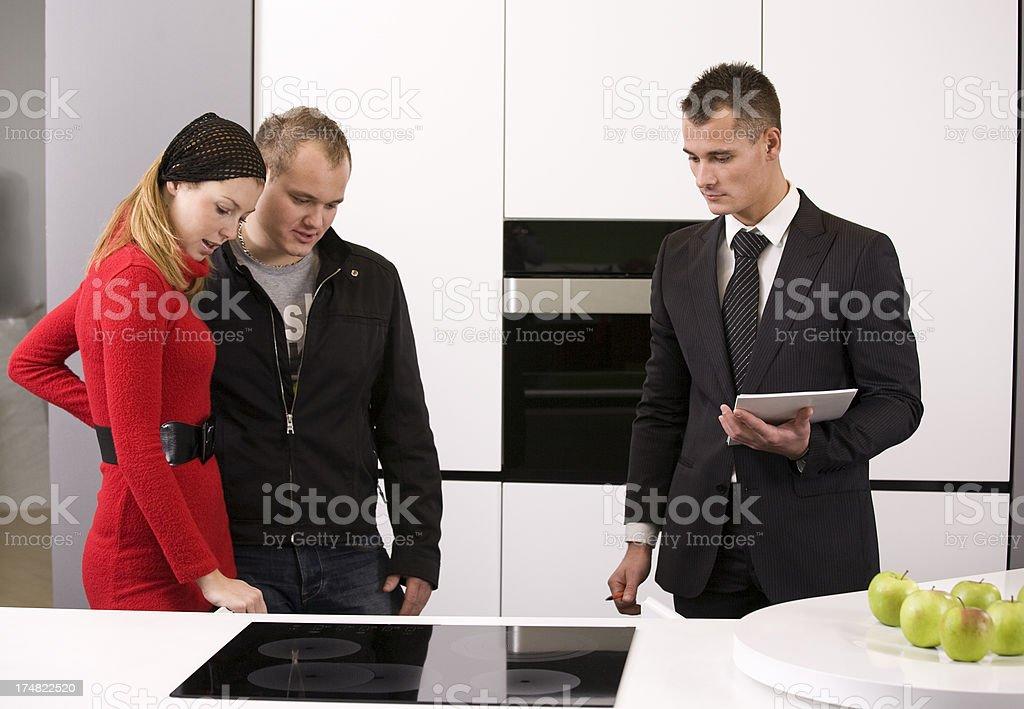 Selling kitchen appliances royalty-free stock photo