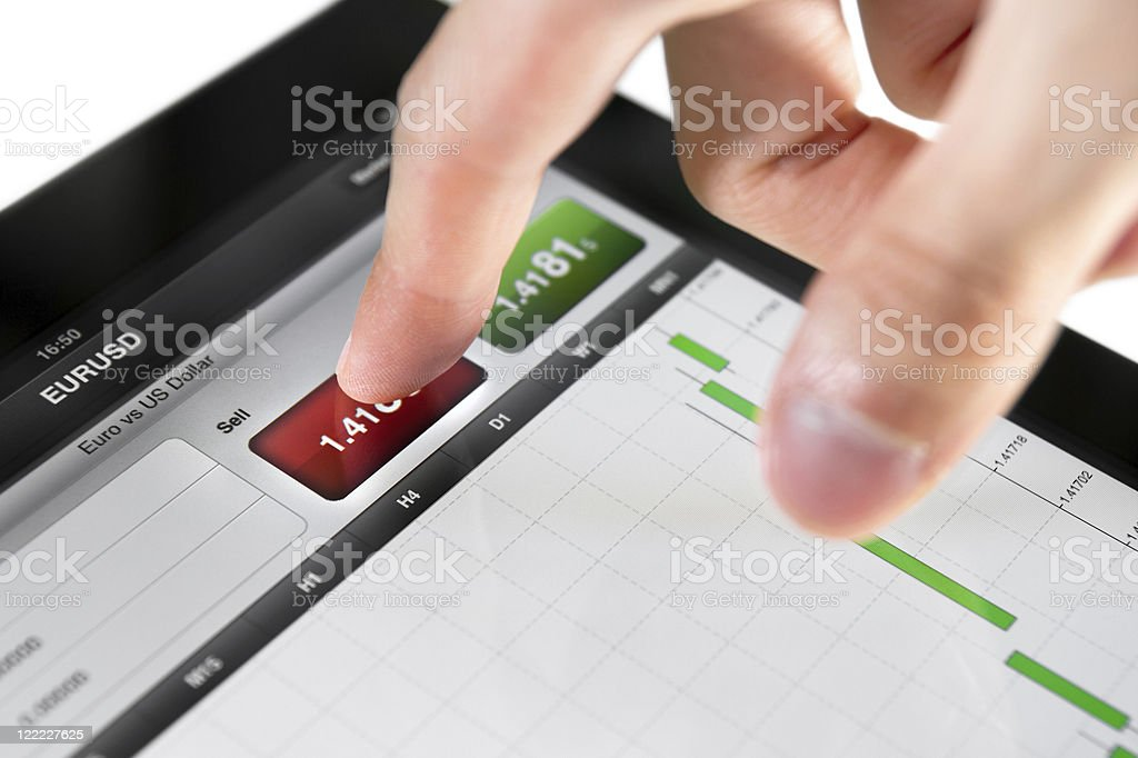 Selling on Stock Market royalty-free stock photo