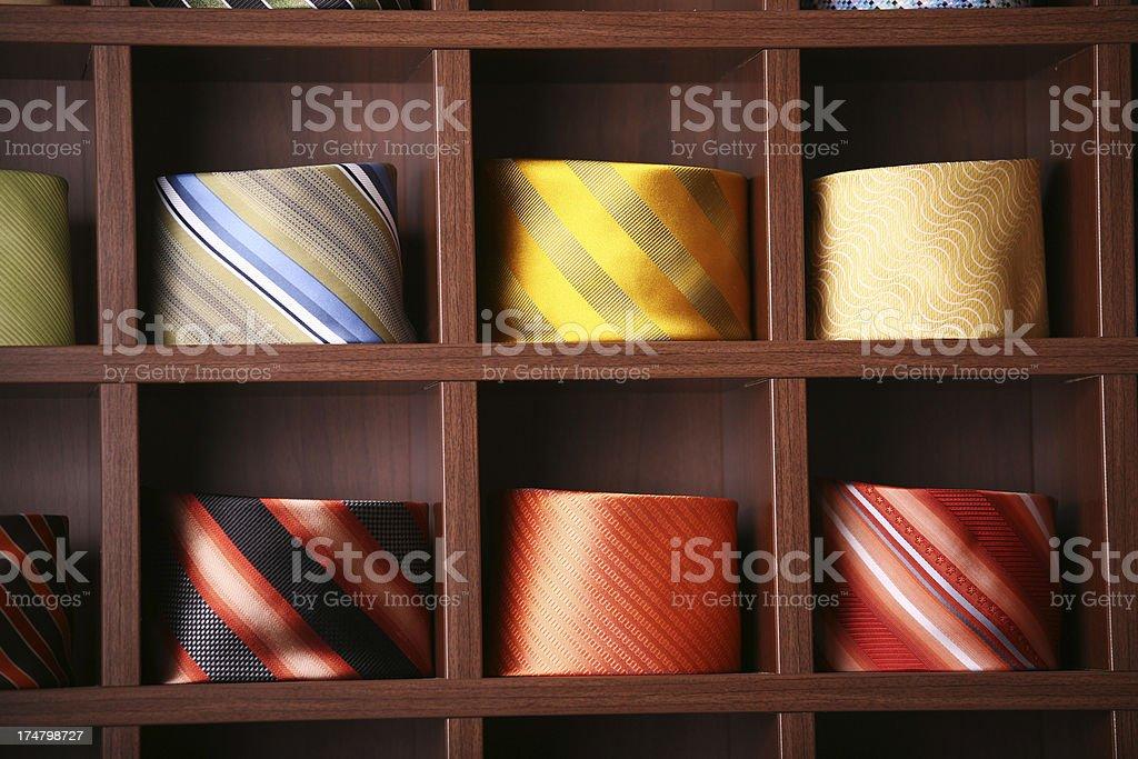 Selling ties stock photo