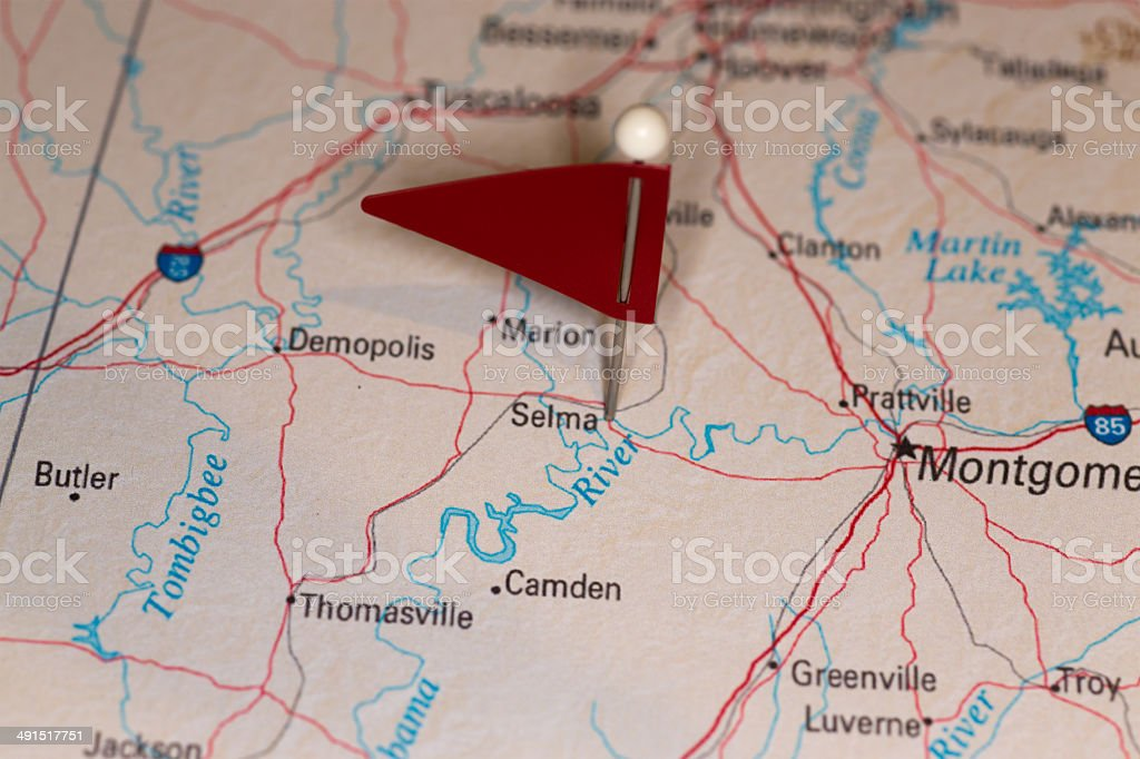 Selma, AL, USA - Cities on Map Series stock photo