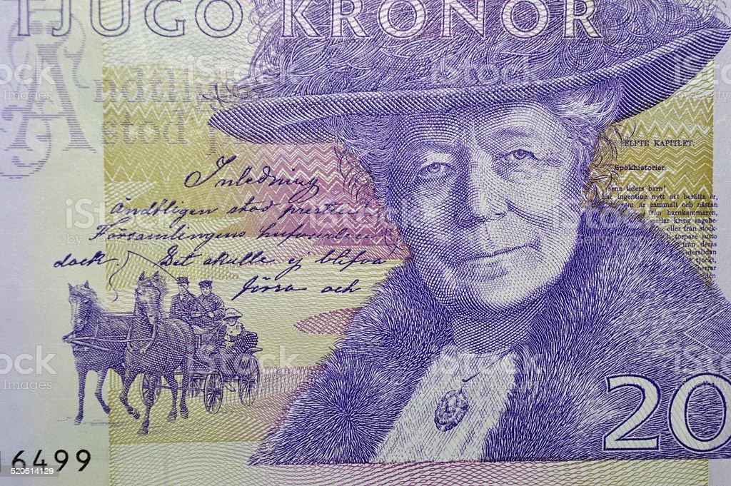 Selma Lagerlof billete de banco de Suecia escritor foto de stock libre de derechos