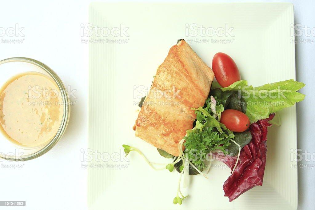 Selmon salad royalty-free stock photo