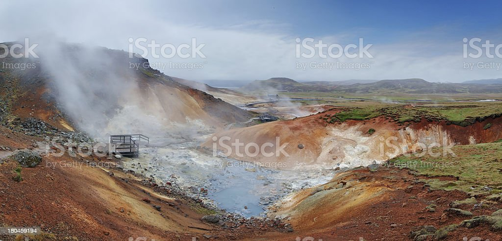 Seltun, Iceland - active volcanic area in Reykjanes peninsula royalty-free stock photo