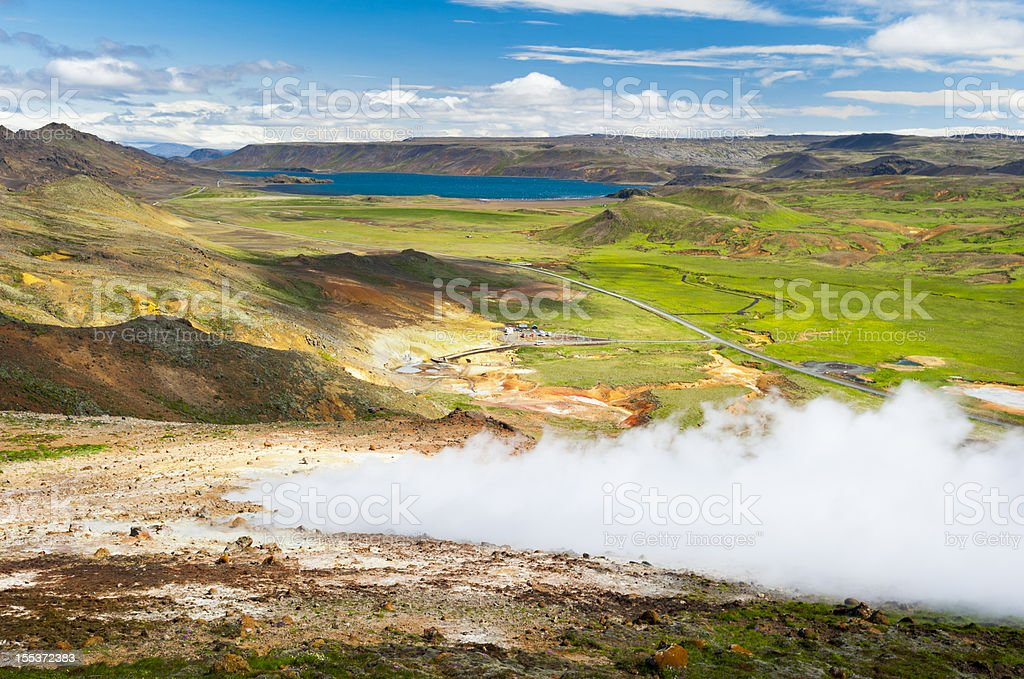 seltun, iceland stock photo