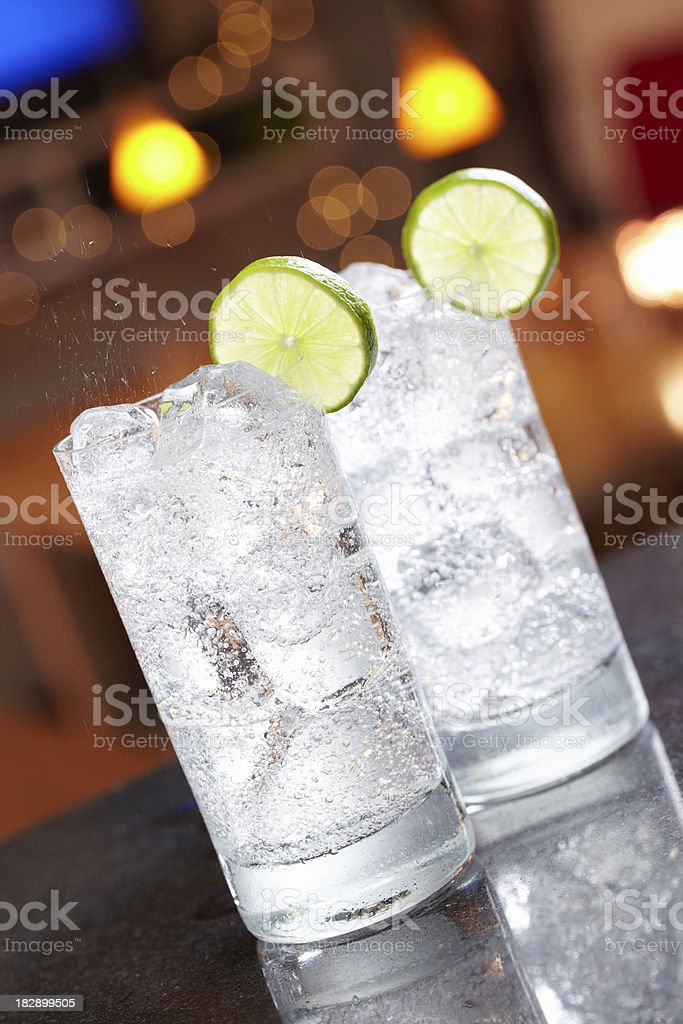 Seltzer and Lime royalty-free stock photo