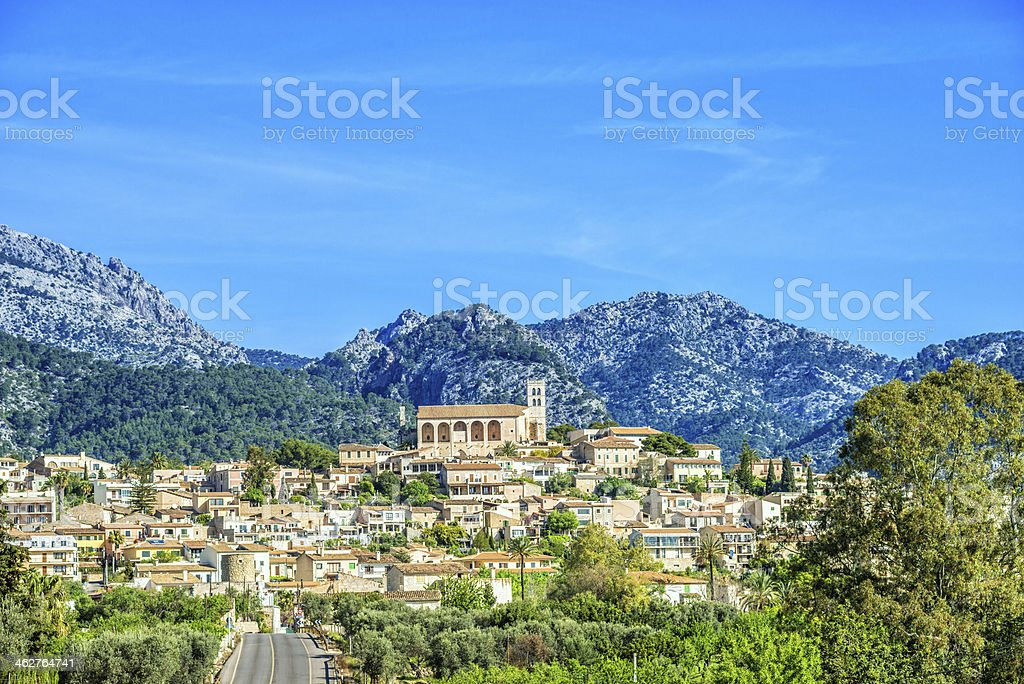 Selva - Majorcian Mountain Village stock photo