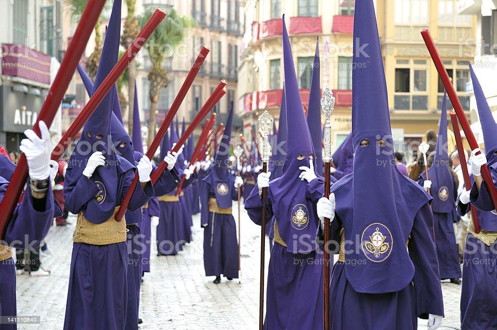 Semana Santa in Malaga,Spain stock photo