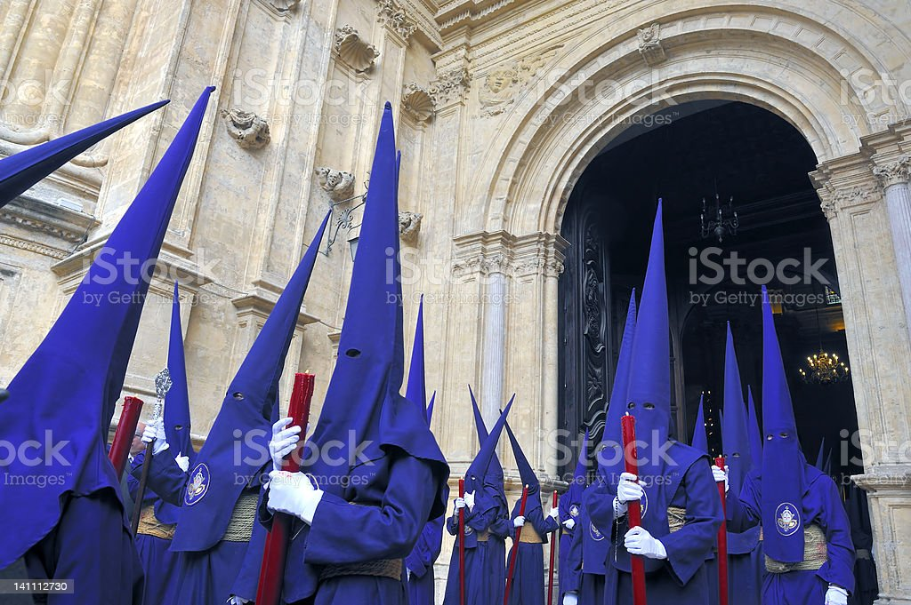 Semana Santa in Malag,Spain stock photo