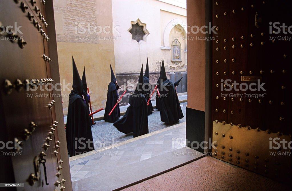 Semana Santa in Seville royalty-free stock photo