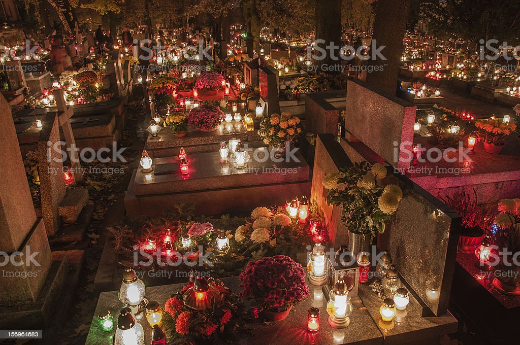 Сemetery stock photo