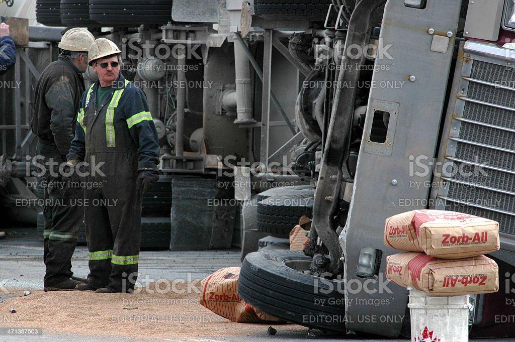 Semi Accident royalty-free stock photo