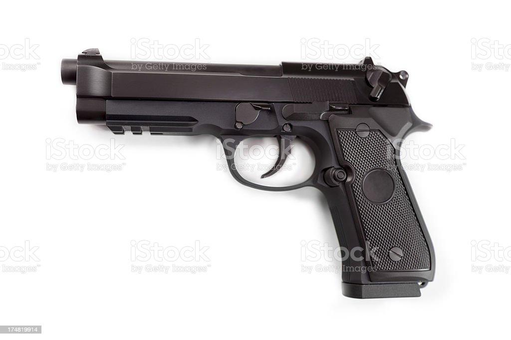 Semi Automatic handgun stock photo