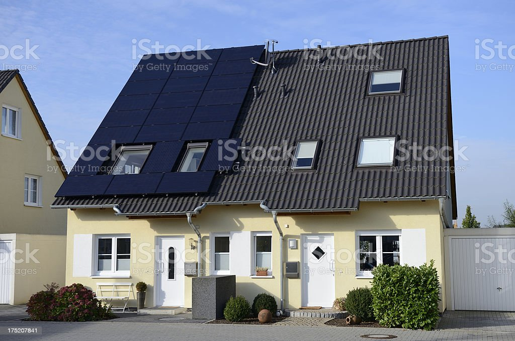Semi detached houses royalty-free stock photo