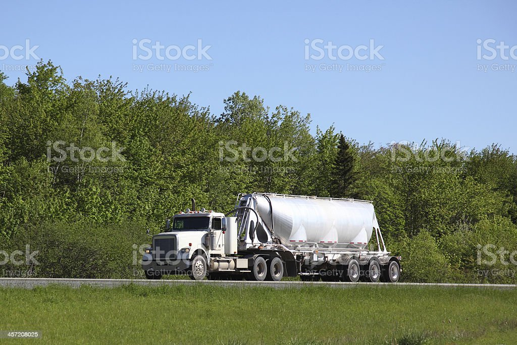 Semi dump truck royalty-free stock photo