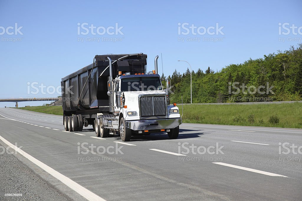 Semi dump truck royalty-free stock photo
