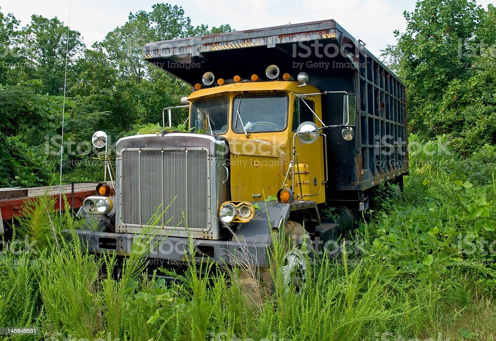 Semi in the Grass royalty-free stock photo