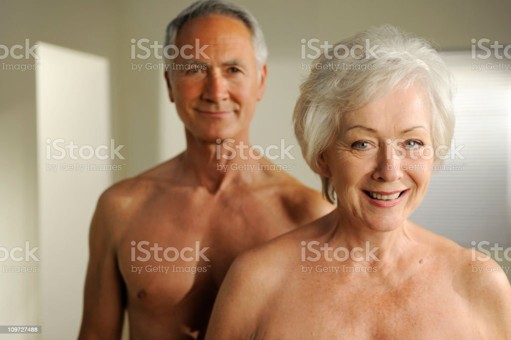 semi nude seniors royalty-free stock photo