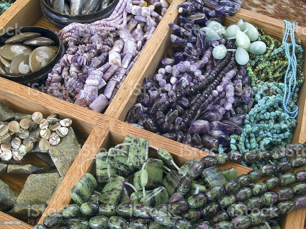 Semi precious gemstone beads royalty-free stock photo