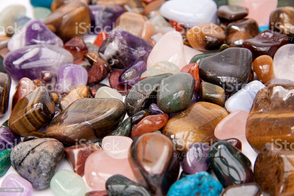 Semi precious gemstones. royalty-free stock photo