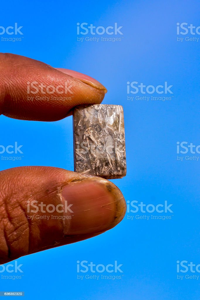 Semi Precious Rock Stone Jewel stock photo