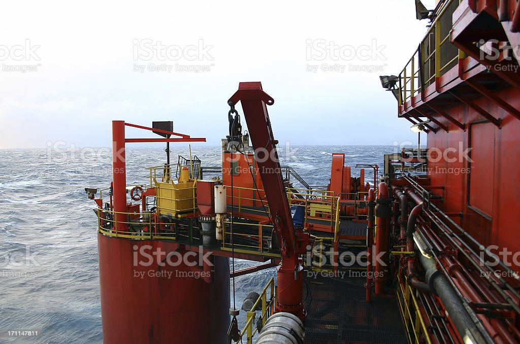 semi submersible oil rig platform royalty-free stock photo