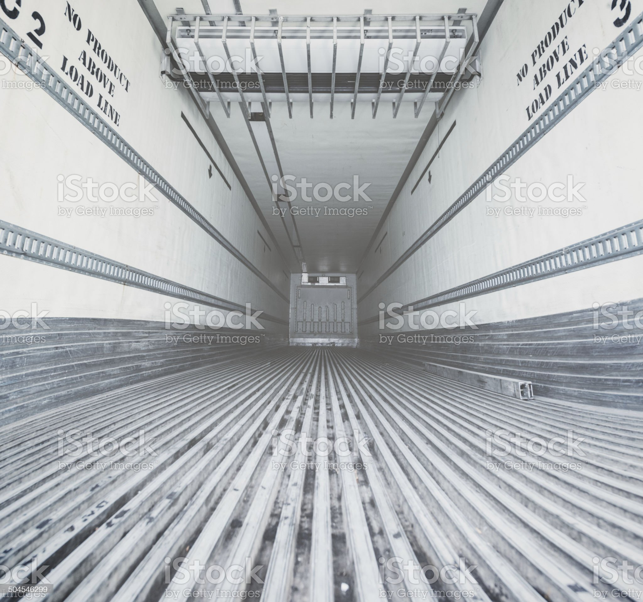 Semi Trailer Interior royalty-free stock photo