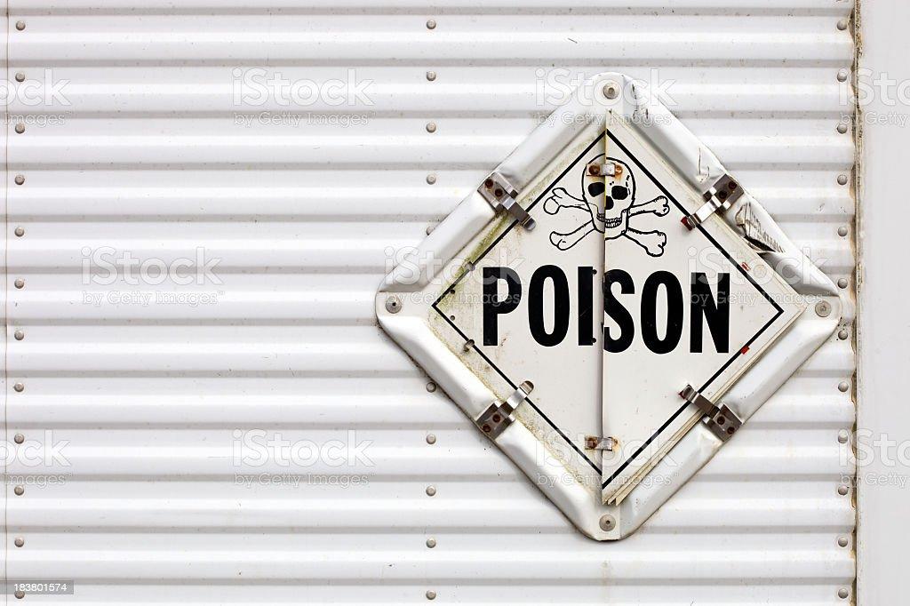 Semi Trailer Poison Warning Placard royalty-free stock photo