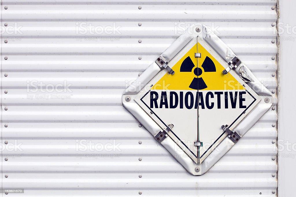 Semi Trailer Radioactive Warning Placard royalty-free stock photo