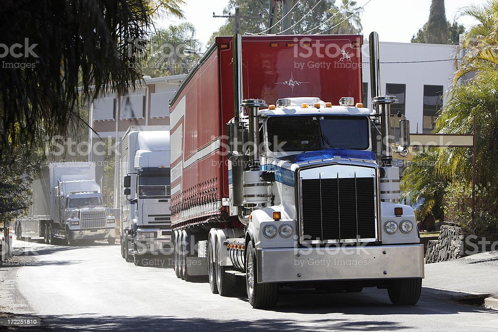 Semi Trailer Truck stock photo